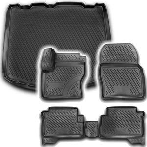 Gummi Kofferraumwanne Fußmatten Set Ford Kuga MK2 ab 2013-
