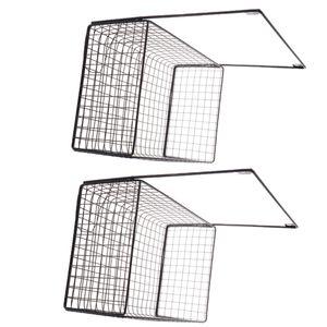 2x Wandhalterung Schmiedeeisenrahmen Hängegestell Wanddisplay Aufbewahrungskorb