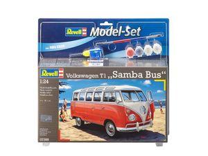 Revell Model Set VW T1 Samba Bus - Auto-Modellbausatz; 67399