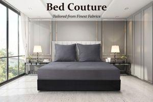 Bed Couture - Velvet Flannel 100% Baumwolle Biber-Flanell Spannbettlaken,180x200+30 cm - Taupe