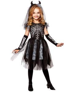 Kostüm Skelett-Braut, Groesse:158