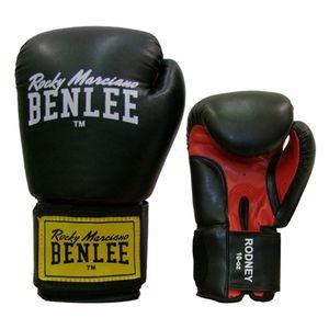 BENLEE Rocky Marciano Boxhandschuhe Unisex – Erwachsene Schwarz-Rot, Größe:12 oz