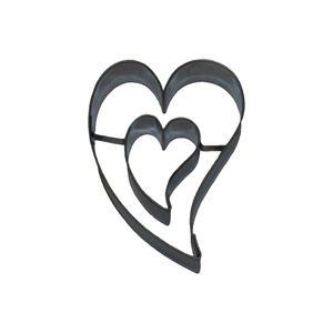 Smolik Ausstecher Herz mit Herzchen innen - schräg