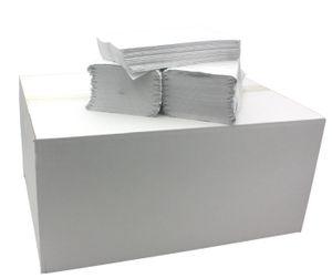 Papierhandtücher Falthandtücher Handtuchpapier Weiß 1-lagig V-Falz 25x23, Karton 20 x250 Blatt, Einweghandtücher,Papier-Falttücher, Papier Handtücher, Falthandtuch,Papierhandtücher für Spender Zickzack Falz