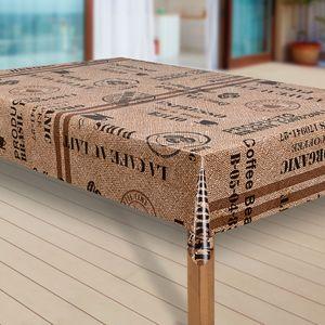 Wachstuch-Tischdecke Wachstischdecke Tischwäsche Abwaschbar Wachstuchdecke, Muster:Kaffee Kaffeebohnen braun, Größe:100x140 cm