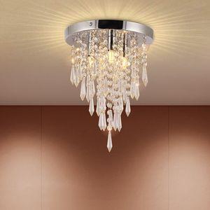 NEUFU Modern Kronleuchter Kristall mit Elegantem Design,Schöne Kristall Deckenleuchte für Flur, Wohnzimmer, Schlafzimmer, Esszimmer, Hotel