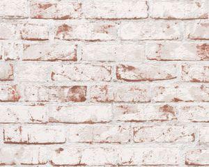 A.S. Création Vliestapete New England 2, beige, braun, rot, 10,05 m x 0,53 m, 907813, 9078-13