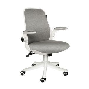Bürostuhl Drehstuhl Ergonomischer Schreibtischstuhl Gepolsterte Armlehnen Wippfunktion Höhenverstellung Mesh, Grau