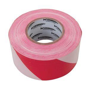 FIXMAN Absperrband Flatterband Absperrung Band Rolle Warnband 500 m Rot / Weiß