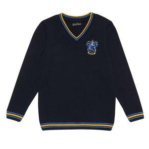 Harry Potter - Ravenclaw House Pullover für Mädchen PG1074 (140) (Marineblau)