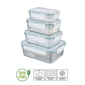 Frischhaltedosen 4er Set Glas Klick-It Gefrierdosen Lunchbox Brotdose Mikrowelle