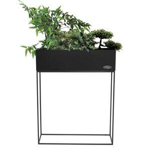 Wohaga Pflanzkasten Blumenständer 55x20xH70cm Schwarz matt