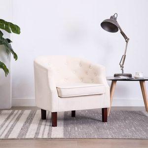 【Neu】Sessel Sessel Beige Stoff Gesamtgröße:65 x 64 x 65 cm BEST SELLER-Möbel-Stühle-Sessel im Landhaus-Stil