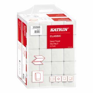 KATRIN Papier-Falttücher Papier Handtücher Handtuchpapier 2-lagig weiß - VPE 20 Pack à 200 Blatt 230 x 244 mm