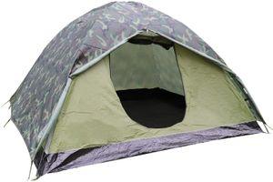 Leicht Trekkingzelt für 3 Personen, Kuppelzelt 2-3 Saison Camping Zelt für Trekking,Outdoor,Festival,230x200x130cm, Grün