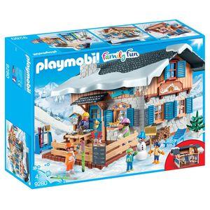 PLAYMOBIL®  9280 Skihütte Inklusive umfassendes Zubehör,
