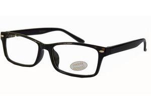 Nerd-Brille schwarz ohne Sehstärke UV-Schutz-400 Damen Panto-Brille Lese-Brille Slim-Fit klare Gläser Geek-Brille