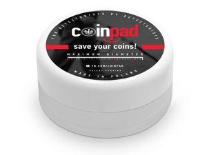 Coinpad Münzenhalter Münzen Aufbewahrung Box Schwamm Schutz Kratzer Risse