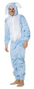 L3300056-54 Hase hellblau Hasen-Overall Hasen-Kostüm Plüsch Gr.54