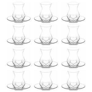 LAV Alya Türkische Teegläser Teeglas Set 24 teilig - 12 Personen Cay Bardak