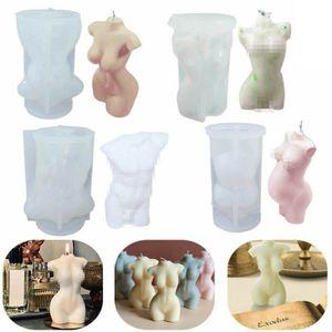 3D Damen Herren Nude Body Kerze Fondant Silikonform Harzformen Kerzendekoration Type : D