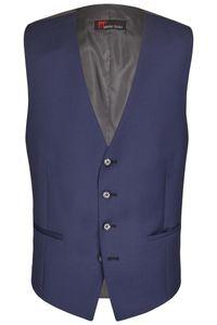 Größe 28 Atelier Torino Business Weste Liborio Blau modern fit taillierter Schnitt reine Schurwolle