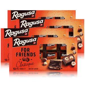 Ragusa for Friends Classique - Schokolade mit Praliné-Füllung 132g (4er Pack)