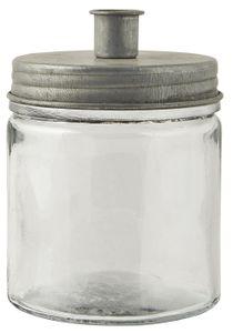 IB Laursen Kerzenhalter für Stabkerze mit Metalldeckel silberfarben