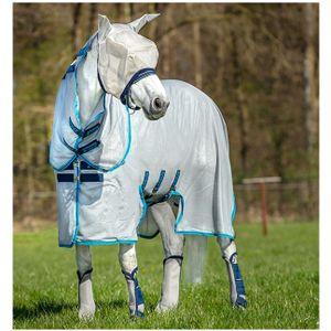 Horseware Amigo Bug Buster Untreated - Silver/Elec Blue, Größe:145