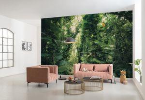 "Komar Vlies Fototapete ""Green Leavesÿ"" - Größe: 450 x 280 cm (Breite x Höhe) - 9 Bahnen"
