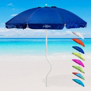 ERMES Sonnen/Strandschirm GiraFacile mit UV-Schutz Ø 200 x H 190 cm, Farbe Blau, Gewicht: 2,4 kg,   Patentierte Struktur Girafacile, windfester Schutz, Zertifikation: UPF 158