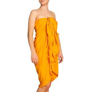 PANASIAM Sarong unicolor, Farbe/Design:gelb-orange, Größe:190x116cm