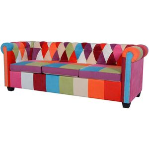anlund Chesterfield Sofa 3-Sitzer Stoff