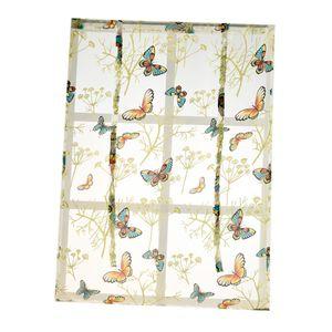 Landhaus Tüll Vorhang Gardinenschal Dekoschal für Schlafzimmer Farbe Schmetterling 120x140cm