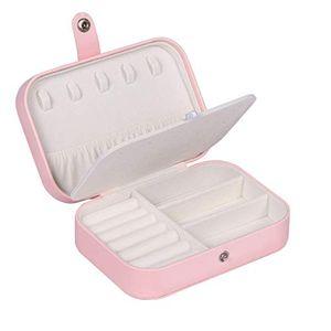 Pink Schmuckschatulle Organizer Damen Kunstleder Schmuckkoffer Tragbar Klein Schmuckbox Reise Schmuck Aufbewahrungsbox Schmuckkästchen Mädchen für