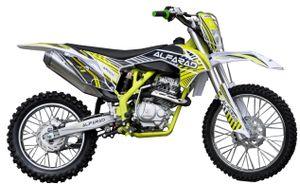 250ccm Alpharad Dirtbike Vollsross Enduro Pitbike Crossbike Cross 21/19Zoll Gelb