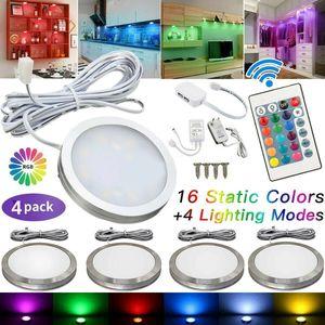 4 Stück Schrankleuchten LED mit Fernbedienung,LED Schranklicht für Schlafzimmer, Kleiderschrank, Kabinett, Küche
