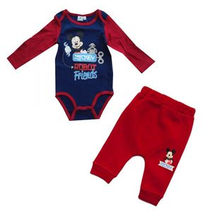 Disney Baby Mickey Body und Hose, rot-blau, Gr. 6-24 Monate Größe - 9 Monate