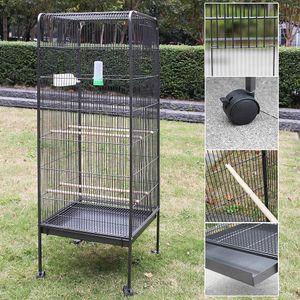 Melko Vogelvoliere rollbar aus Metall Vogelkäfig Vogelhaus Papageienkäfig Tierkäfig ??