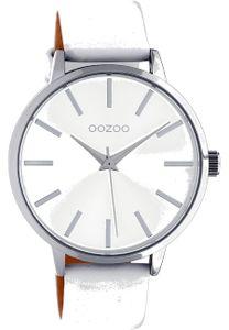 OOZOO Uniuhr C10610 Quarzwerk Weißes Lederarmband 42mm