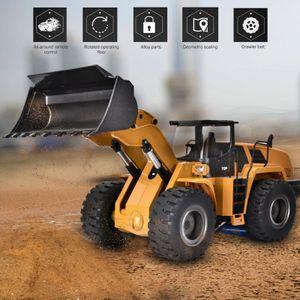 HUINA 583 2.4GHz 10CH RC Metall Radlader Bagger Automatische Engineering Fahrzeug Mit Fernbedienung LKW