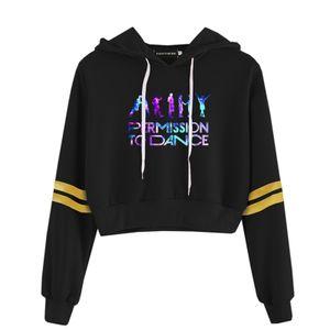 KPOP BTS Hoodie für Damen-ädchen- Permission to Dance Sportbekleidung Schwarz Kapuzenpullover, Größe: M