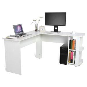 Eckschreibtisch Schreibtisch L-Form Computertisch Winkelschreibtisch Regal Arbeitstisch