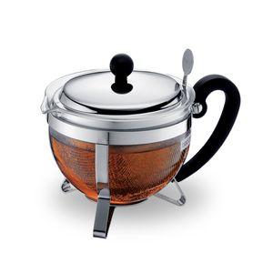 Bodum Teebereiter mit Edelstahlfilter und Edelstahldeckel, 1.0 l