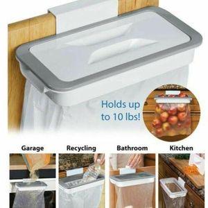 Duolm Müllsackhalter aus – Halterung für Müllsäcke und Tüten in der Küche – einfach zu montierender Sackhalter für die Küchenschranktür