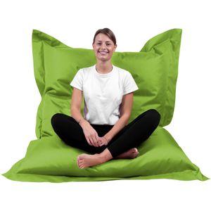 B58 Sitzsack Rechteckig Riesensitzsack Beanbag Sitzkissen Indoor Outdoor Sitzsäcke Kinder Bodenkissen Erwachsene Freizeit Schule Kindergarten Lounge (XL-XXXXL; 12 Farben) (L= 70 x 100, Hellgrün)