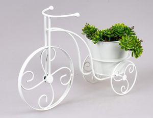 Formano Pflanzfahrrad Hyde Park 36 cm weiß Gartendekoration Pflanztopf
