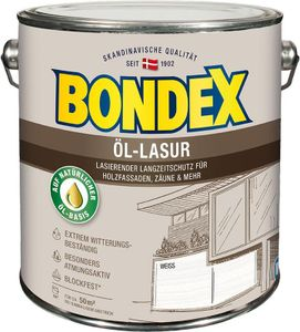 Bondex Öl-Lasur Weiß 2,50l - 391323