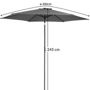 Sonnenschirm Alu Ø300cm Gartenschirm Marktschirm Schirm Kurbelschirm Ampelschirm wasserabweisend, Farbe:beige