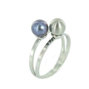 Skagen Damen Ring silber Perlen JRSB020 S8 Gr. 57 (18,1)